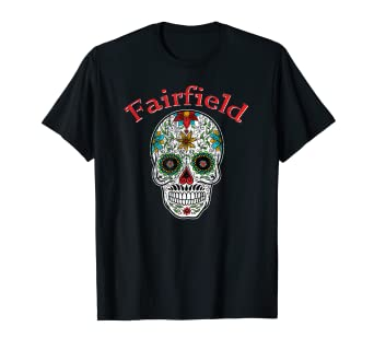 Retro Fairfield Alabama Trendy Sugar Skull T-Shirt