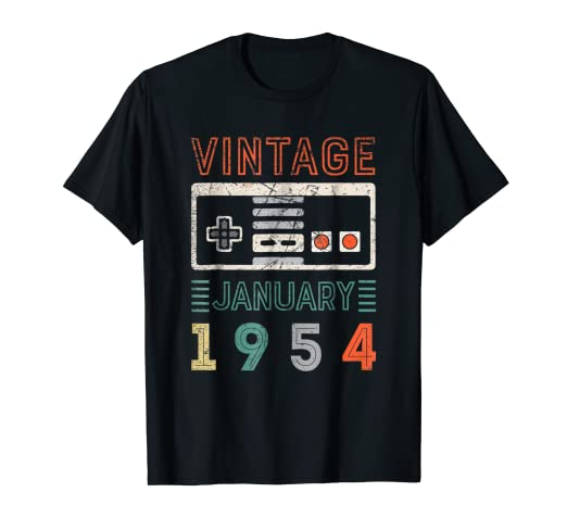 Amazon Vintage January 1954 65th Birthday Shirt 65 Year Old