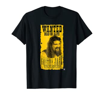 99ec2f1e052d77 Image Unavailable. Image not available for. Color  WWE Cactus Jack Wanted  Dead Or Alive T-Shirt