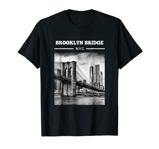 2a1675ac Image Unavailable. Image not available for. Color: Brooklyn Bridge New York  City t shirt NYC Tee