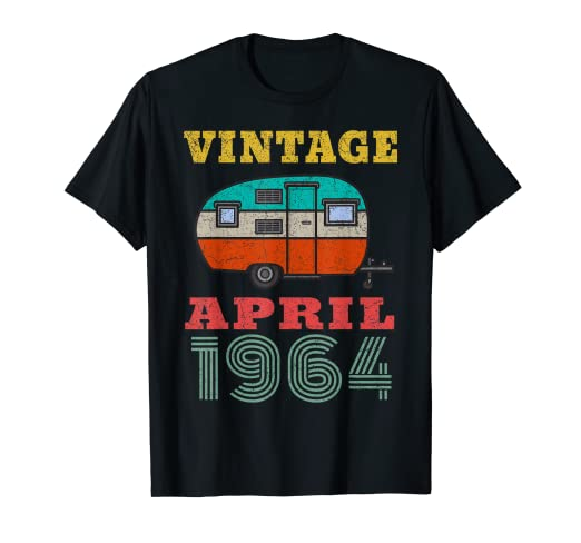 Amazon 55th Birthday Gift April 1964 Shirt 55 Years Old
