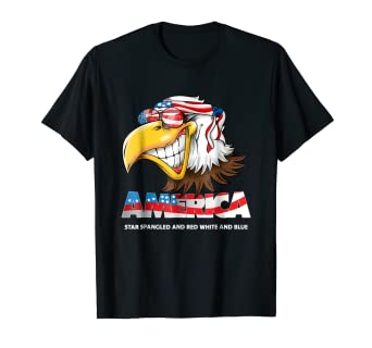 Amazoncom America Red White And Blue Eagle Patriot T Shirt Clothing