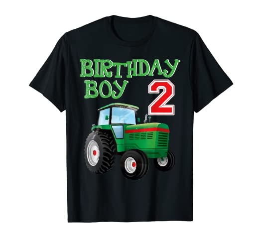 Amazon Green Farm Tractor T Shirt Boys Kids 2nd Birthday Party