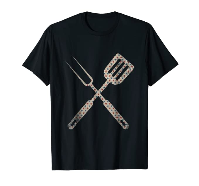 USA Holiday BBQ Tools Tee Shirt for summer festivities