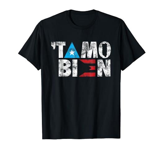 079d8ce4ec6 Amazon.com  Distressed En Puerto Rico  Tamo Bien Flag Shirt  Clothing