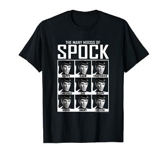 eeb5f2f3c5 Amazon.com: Star Trek Original Series Moods of Spock Graphic T-Shirt ...