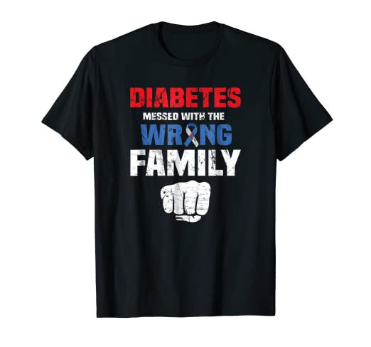 Amazon Diabetes Awareness T Shirt Diabetic Family Support Gift