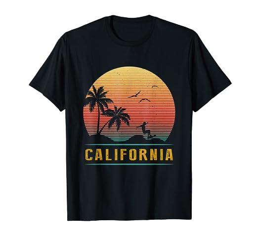 f4209f36c Amazon.com: California Vintage Retro T-Shirt - 70s Surf Tee: Clothing
