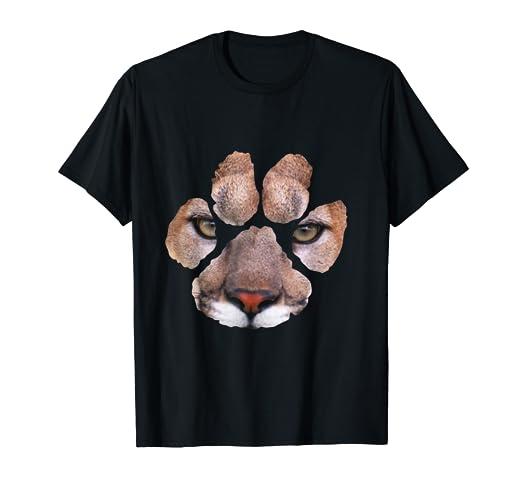 Amazon.com  Awesome Cougar Paw Print T-Shirt - Mens   Womens   Kids ... 3f7da43329