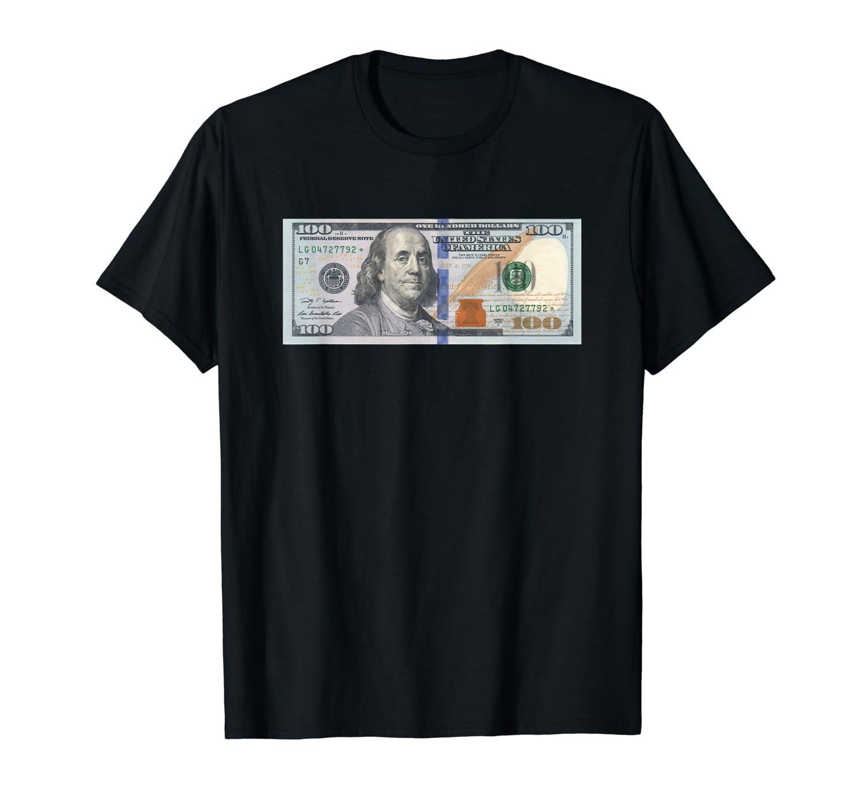 f922b307c2b0 Amazon.com: The Official $100 Dollar Bill Baller T Shirt: Clothing