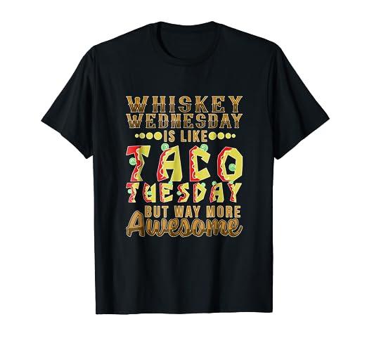 Amazoncom Funny Whiskey Wednesday T Shirt Drinking Party Meme Gift