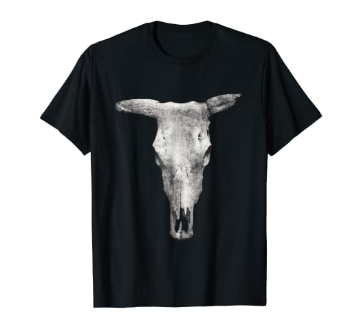c4959fce7e38 Image Unavailable. Image not available for. Color  Cow Skull T-Shirt  Western Style cowboy cowgirl Graphic tee