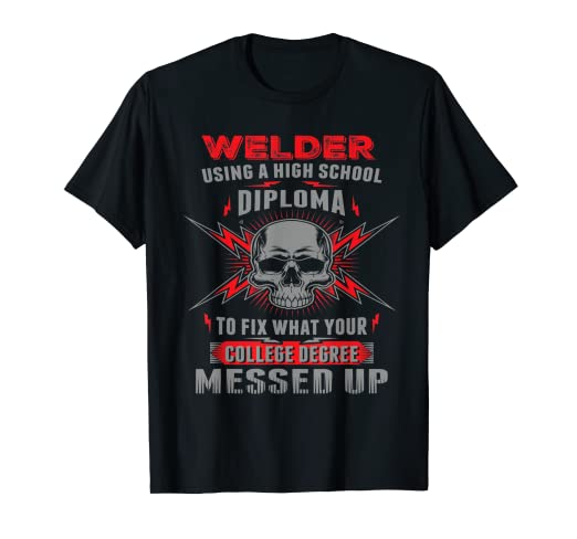 e2ef5f0b Image Unavailable. Image not available for. Color: Funny Welding, Proud Welder  Tshirt