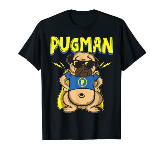2c5f840c4 Image Unavailable. Image not available for. Color: Pugman - Funny Pug Shirt  For Pug Dad