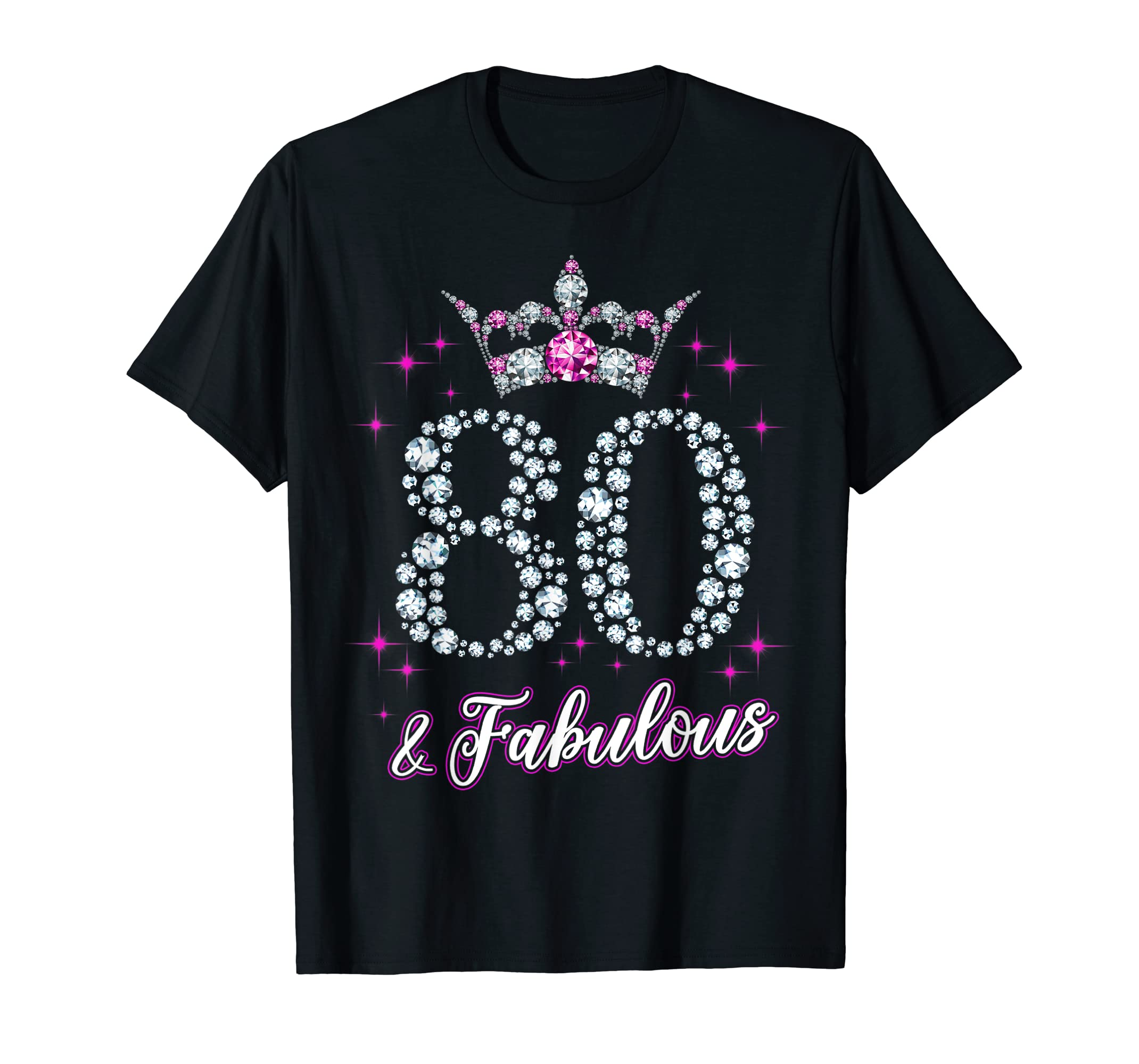 Womens 80 And Fabulous 1939 80Th Birthday Gift T-Shirt-Yolotee