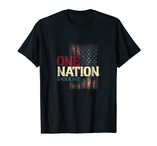 ce31639b4 Image Unavailable. Image not available for. Color: One Nation Under God  shirt, flag, patriot ...
