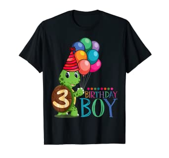 Image Unavailable Not Available For Color 3rd Birthday Gift Shirt Turtle 3 Year Old Boys