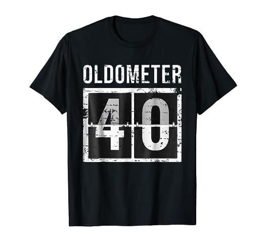 Amazon Oldometer 40 Shirt 40th Birthday Gift Men Women Clothing