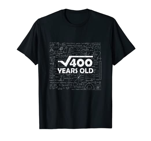Image Unavailable Not Available For Color Square Root Of 400 20th Birthday Gift 20 Years Old