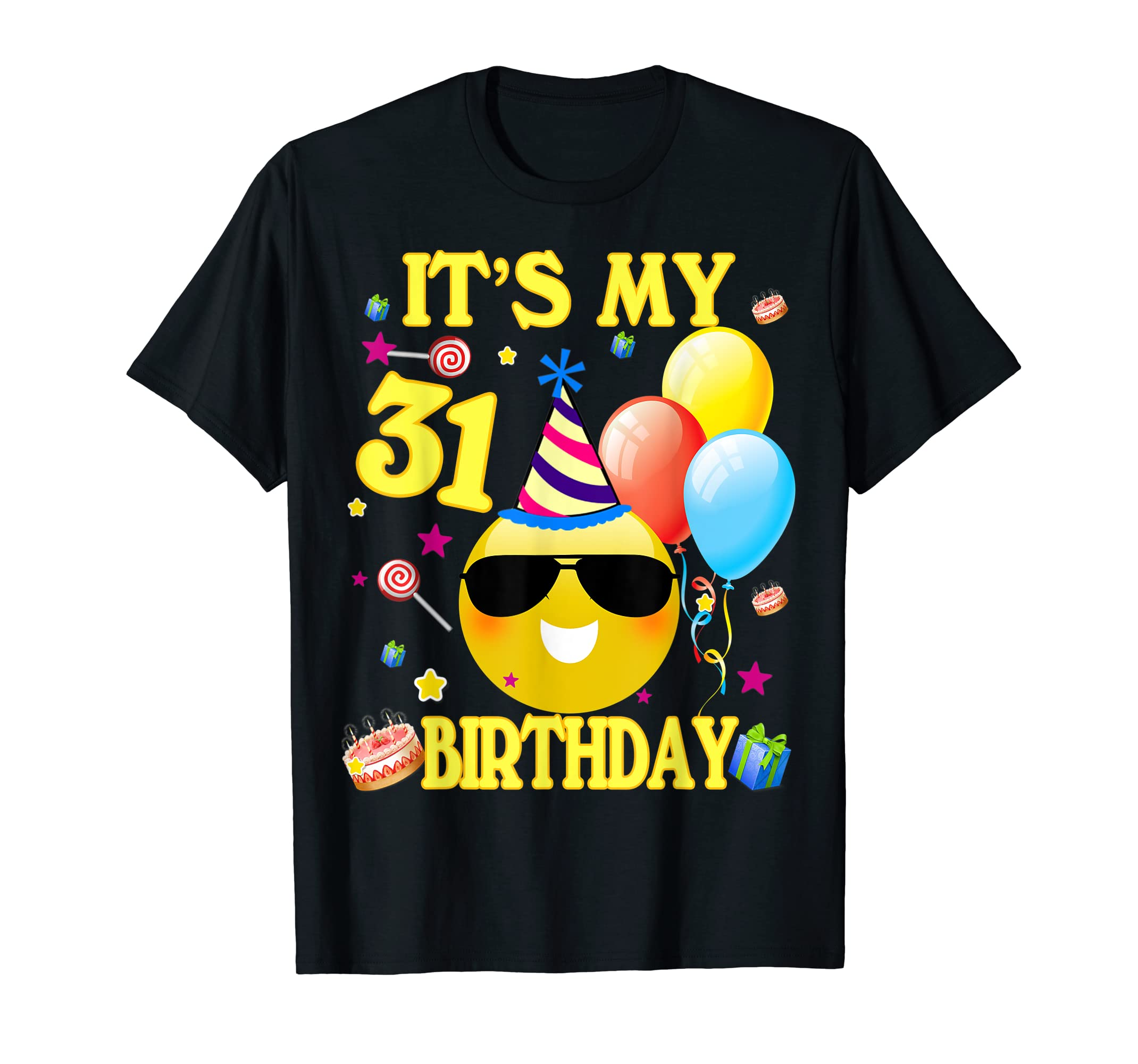 Amazon Its My 31st Birthday Shirt 31 Years Old Gift Clothing