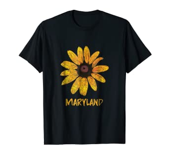 amazon com maryland state flower vintage print t shirt men women