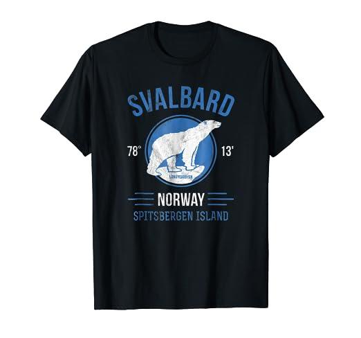 cc4badc1 Amazon.com: Svalbard Norway Arctic Circle Polar Bear T-Shirt ...