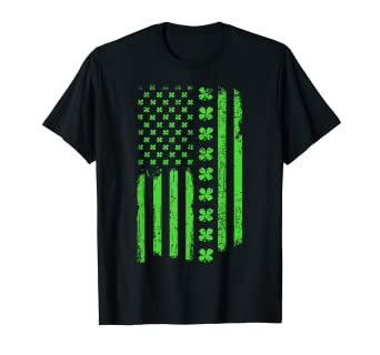 b7f23089 Image Unavailable. Image not available for. Color: St Patricks Day Irish  American Flag T-Shirt