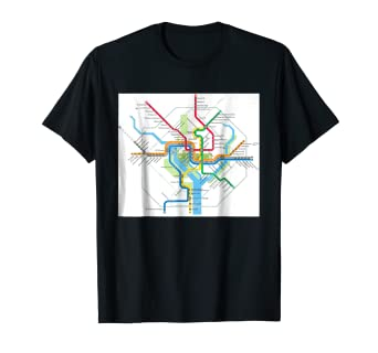 Amazon Com Washington Dc Subway Map Usa T Shirt Clothing