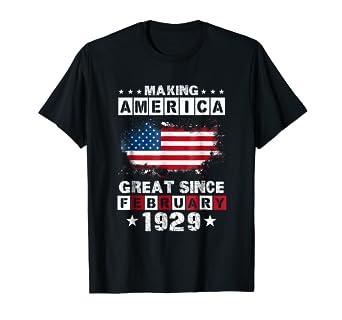 February 1929 90 Years Old 90th Birthday Gift T Shirt