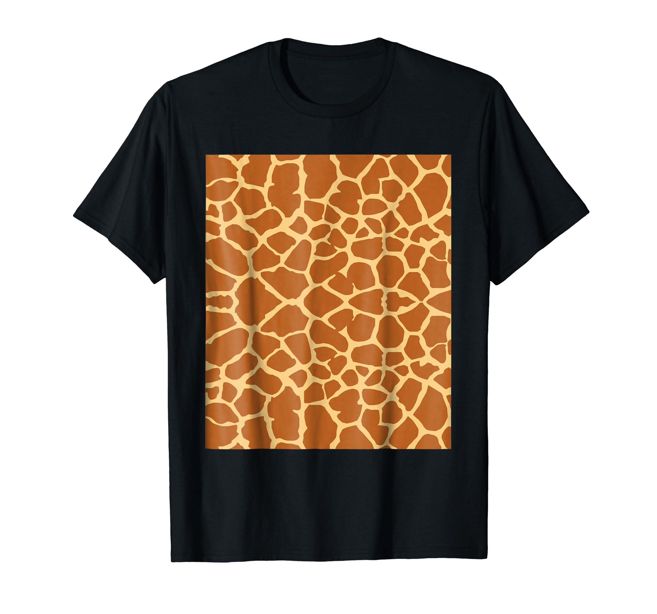 a9ffa6bb Amazon.com: Giraffe Print T Shirt Giraffe Pattern Costume Gift Shirt:  Clothing
