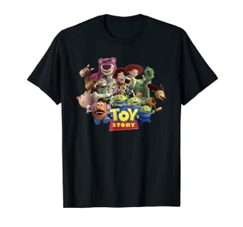 0f8702927 Image Unavailable. Image not available for. Color: Disney Pixar Toy Story  Buzz Woody Jessie Running T-Shirt