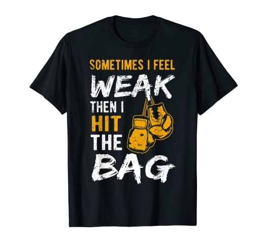 51c2d90d75 Amazon.com: Funny Hit The Bag T-Shirt Vintage Love Box Gloves Tee ...
