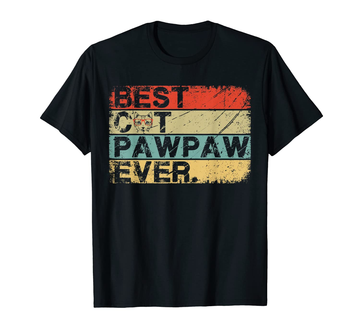 Best Cat Pawpaw Ever Vintage Father's Day Gift Shirts