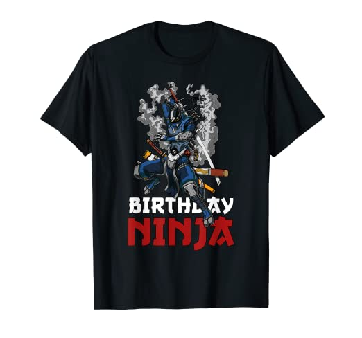 Amazon.com: Birthday Ninja Samurai Robot Martial Arts Boys ...