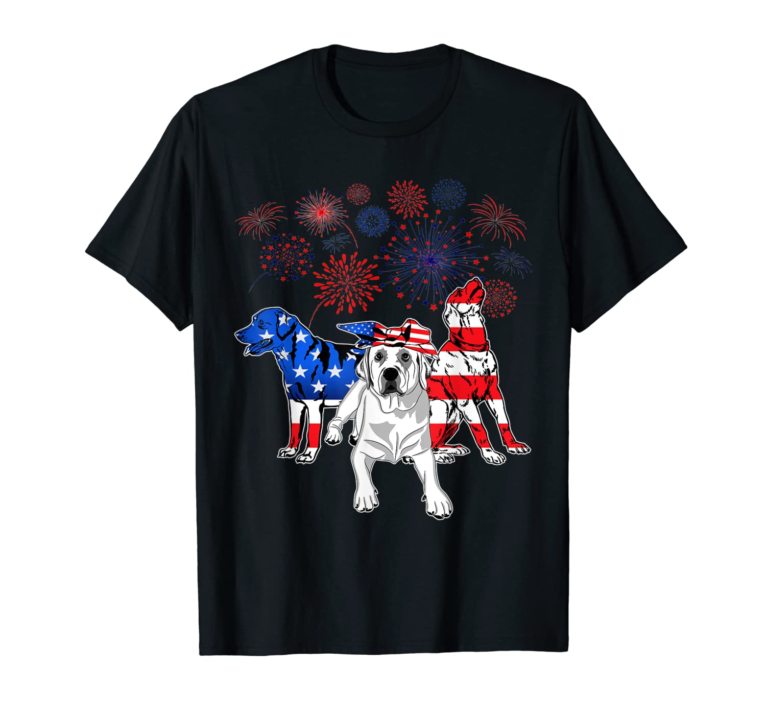 Labrador 4th Of July America Flag Gifts Shirts