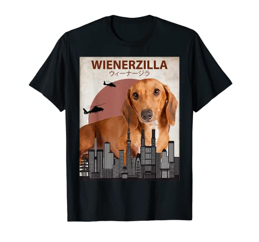 abd7ae03 Image Unavailable. Image not available for. Color: Wienerzilla Funny Wiener  Dog T-Shirt | Dachshund ...