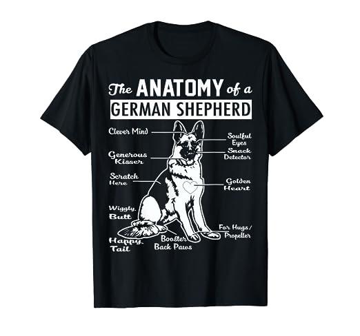 ab8e804b Amazon.com: The Anatomy Of A German Shepherd Shirt: Clothing