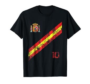 5d44d5750f9 Image Unavailable. Image not available for. Color: Spain Soccer Jersey Shirt  Vintage Espana Men ...