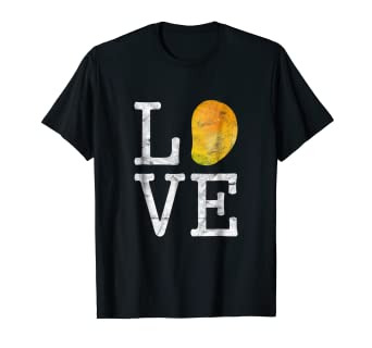 c0b54a3553b8f Image Unavailable. Image not available for. Color: LOVE Mango Funny Shirt I  Fruits ...