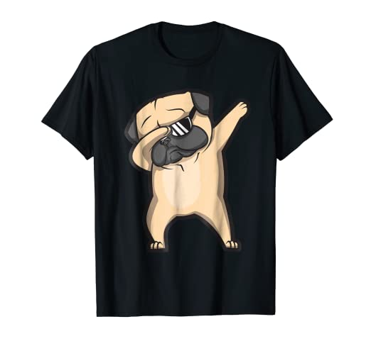 000216efba0a Image Unavailable. Image not available for. Color: Dabbing Pug Shirt - Cute  ...