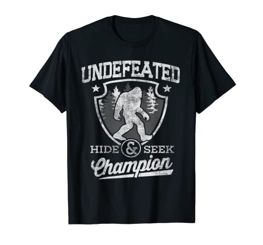 b44be45eb Image Unavailable. Image not available for. Color: Bigfoot T-shirt Undefeated  Hide & Seek ...