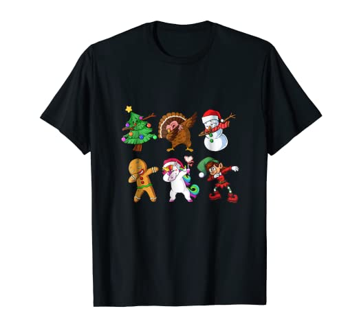 33df683a68d Image Unavailable. Image not available for. Color  Christmas Dabbing Santa  Friends Dab Xmas T-shirt