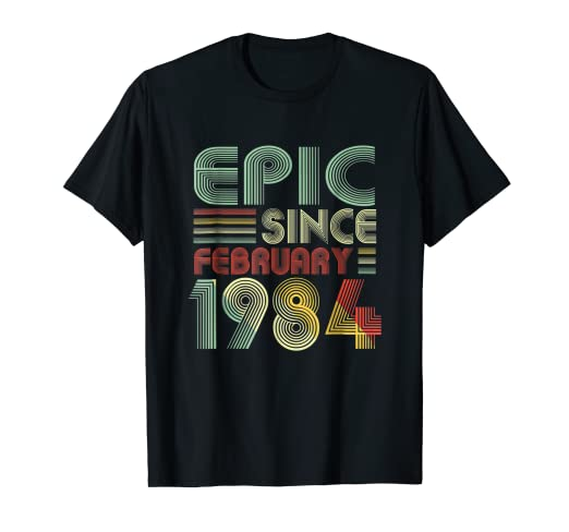 Image Unavailable Not Available For Color February 1984 Shirt 35 Years Old 35th Birthday Decorations