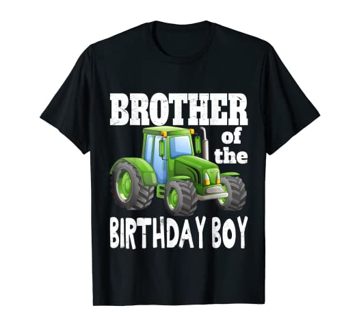 Amazon Brother Of Birthday Boy Kids Farm Tractor Party Shirt