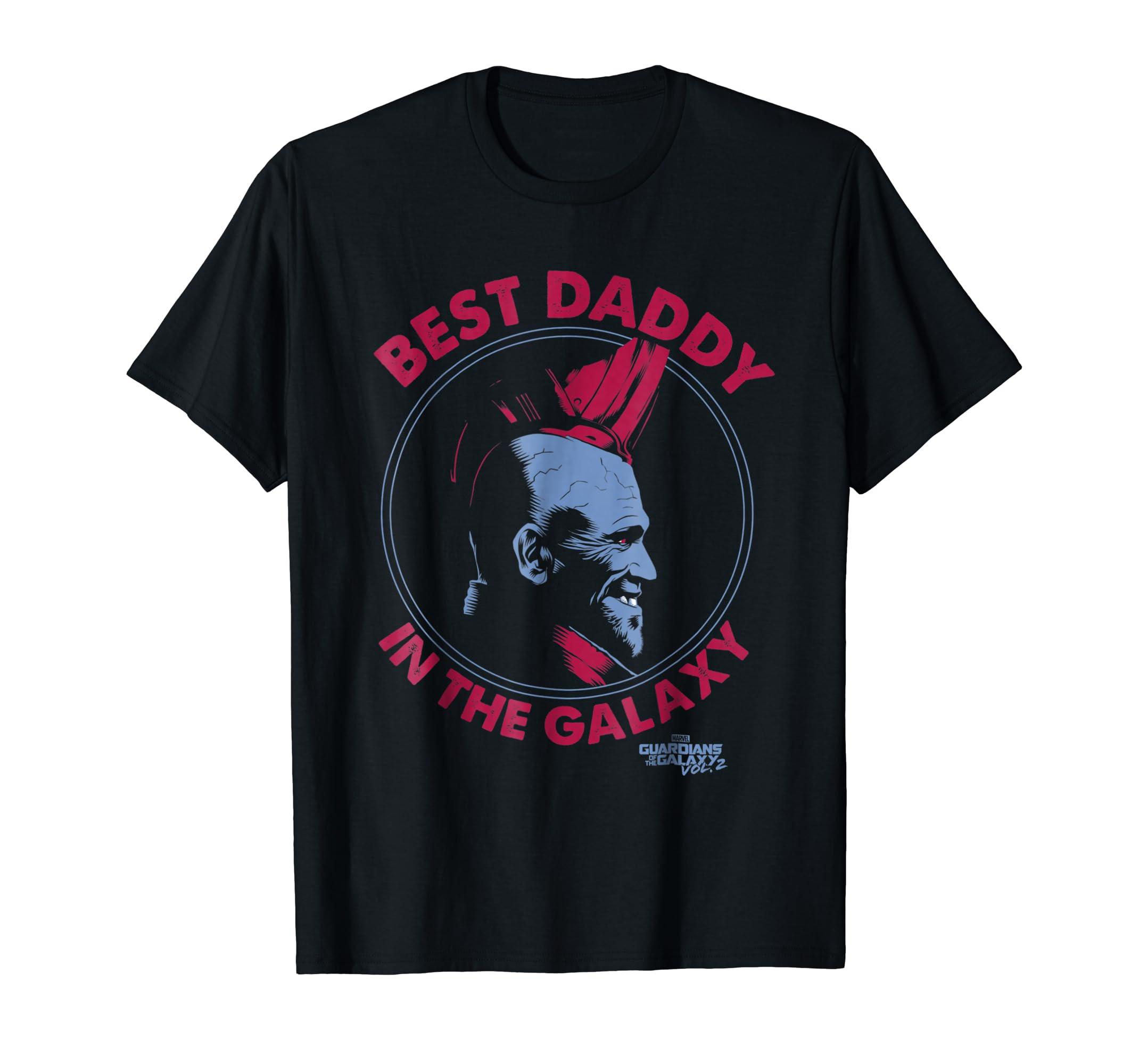 Marvel Guardians Vol.2 Yondu Father's Day Best Daddy T-Shirt-Men's T-Shirt-Black