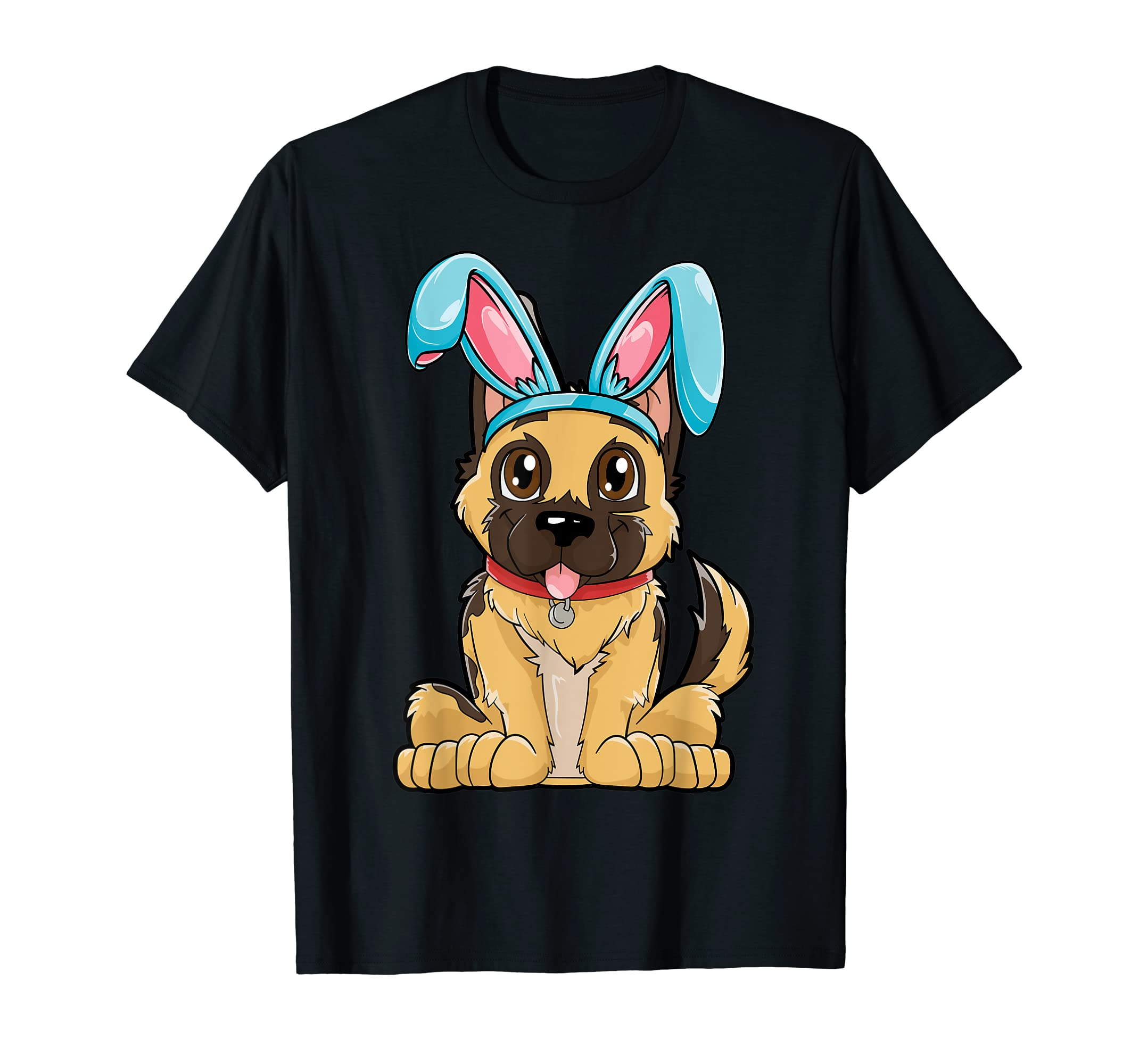 Easter Bunny German Shepherd T shirt Dog Boys Girl Kids Men-Men's T-Shirt-Black