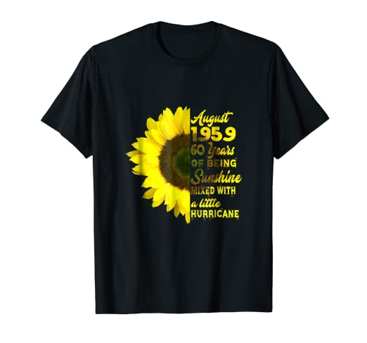 Amazon August 1959 60 Years Birthday Shirts For Women Xmas Gift