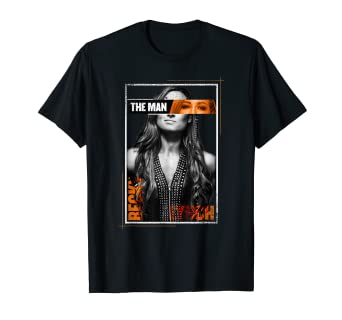 "9921cb65d Image Unavailable. Image not available for. Color: WWE Becky Lynch  ""The Man Photo"" Graphic T-Shirt"