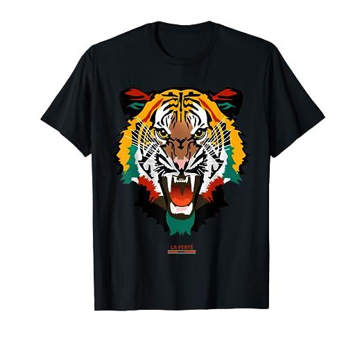 949e9133f83 Amazon.com  Graphic Tee Shirt Fashion Animal Print Tiger Face T ...