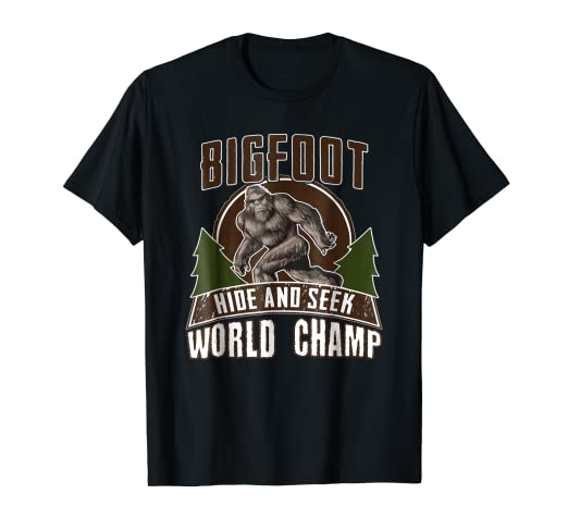 29485ba8e237 Image Unavailable. Image not available for. Color: Bigfoot Hide and Seek  World Champ Shirt - Sasquatch Tee